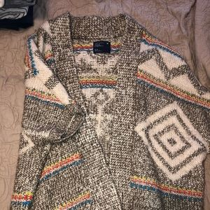 Warm shirt sleeve sweater